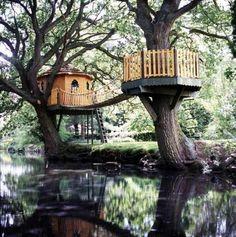 riverside treehouse.
