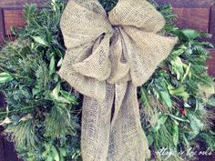 I must find 2 big wreaths I can jazz up for holidays and seasons and they MUST have a big BURLAP bow! misscarriejones