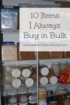 10 Items I Always Buy in Bulk