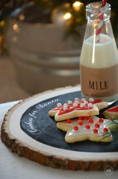 Cookies for Santa DIY Plate & recipe