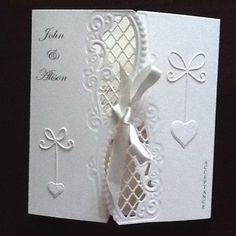 Anja side die wedding acceptance card. accept card