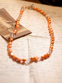 Tangerine Orange Freshwater pearl Necklace $17