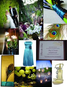 Lime Green and Teal Wedding Colors