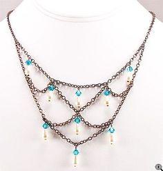 Jewelry Making Idea: Sierra Link Necklace (eebeads.com)