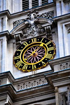 Bell Tower Clock on the Westminster Abbey - London England,