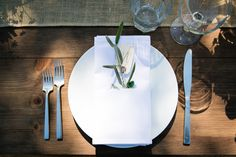 olive branch place settings by lovely little details