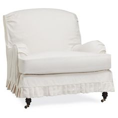 pleated slipcover