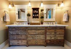 Rustic diy bathroom ideas | DIY bathroom units