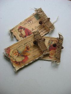 Christmas envelopes by Baggaraggs on Etsy, $5.00