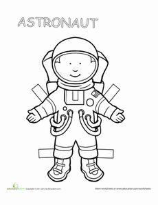 Career Paper Dolls: Astronaut Worksheet
