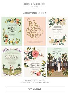 Rifle Paper & Co.....wedding invitation idea! I love the florals!