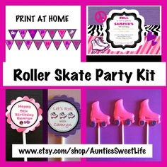 Print At Home Roller Skate Party Kit by AuntiesSweetLife on Etsy, $20.00
