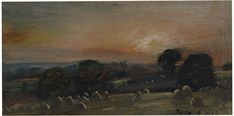 A Hayfield near East Bergholt at Sunset, John Constable, 1812. For more information on Constable Country visit www.visitsuffolk.com