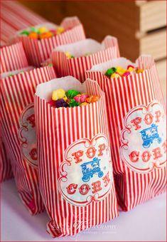 Carnival party popcorn