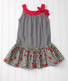 Take a look at this Black Cherry Drop-Waist Dress - Girls by Garden Party: Darling Dresses on #zulily today!
