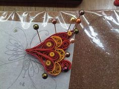 Just Love Crafts: A Quilled Butterfly Embellishment - Steps-by-step instructions too..  #quilling