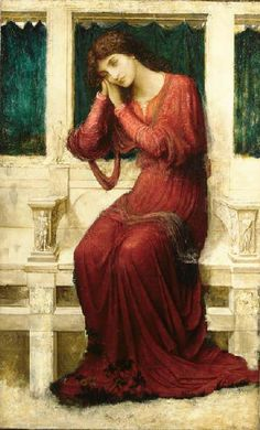 JOHN MELHUISH STRUDWICK (1849-1937) Biography   PRE-RAPHAELITE (founded 1848) Biography    When Sorrow comes to Summerday Roses bloom in Vain (United Kingdom, c.1910)