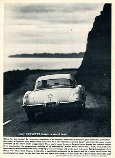 1960 Chevrolet Corvette Advertising Sports Car Illustrated July 1960