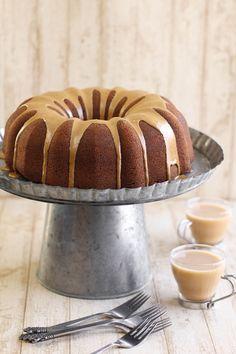 Gingerbread Bundt Cake with Coffee Glaze.