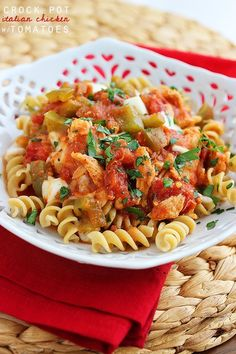 Crock Pot Italian Chicken with Tomatoes