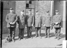Fire captains from the #Chicago #fire department, seventh battalion standing together, c. 1903. Photograph from the Chicago Daily News. DN-0000706 #firemen #history #photography #blackandwhite