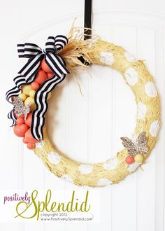 Spring Wreath Tutorial   Positively Splendid {Crafts, Sewing, Recipes and Home Decor}