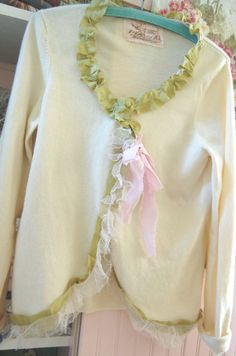 Pure Cashmere Sweater Upcycled Creamy Ivory by OfLinenandLace, $73.50