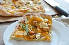 Roasted Garlic, Butternut Squash and Goat Cheese Pizza