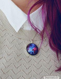 Fox Fur Nebula Necklace / Space Necklace / Cosmic Necklace. $20.00, via Etsy.