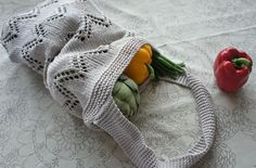 Eastern Market Tote by Tanis Gray for Cascade Yarns #Knitting #Pattern