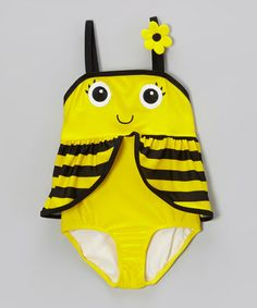 Look what I found on #zulily! Yellow Bee Skirted One-Piece - Infant & Toddler #zulilyfinds