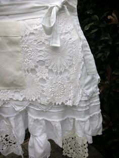 Aprons  Lace APRONS  Handmade Half Aprons  Shabby by AnniesAttic, $44.95