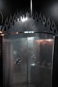 diamond plate flame garage | The Ultimate Mancave! - The Garage Journal Board
