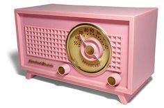 Vintage Pink Radio.