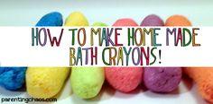 Homemade Bath Crayons