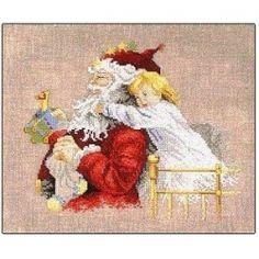 Victorian Santa Cross Stitch Pattern