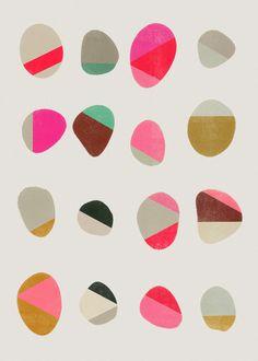 Painted Pebbles1 - Art Print by Garima Dhawan/Society6