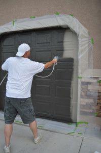 Painting your garage door