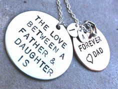 The Love Between A Father and Daughter is Forever, Father Daughter Necklace, Personalized from dad, Custom Father Daughter, gifts from dad on Etsy, $59.00