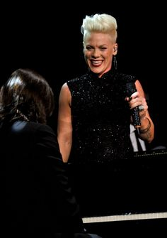 Pink performs at the 2014 MusiCares Person of the Year tribute to Carole King on Jan. 24 in Los Angeles