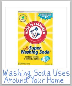 Everything you wanted to know about washing soda, including multiple uses for it for cleaning and laundry (and how it's chemically different than baking soda!)
