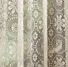 Great detail shot of our Lee Ann Ready Made Lace Curtains.