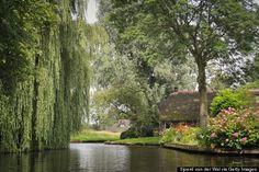 giethoorn, boats, national parks, amsterdam, town, places, bridges, roads, netherlands