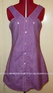 My busy craft life: Fabulising February - Men's Shirt Dress