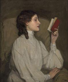 Sir John Lavery - Miss Aurus, the Red Book