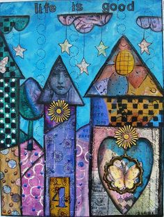 mixed media painting by Diane Salter.