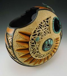 gourd galor, beetl garden, gourd art, creation inspir, dri gourd, artwoodgourd, gardens, craft report, beetles