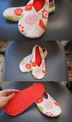 Zapatillas kimono (pattern by ithinksew.com)