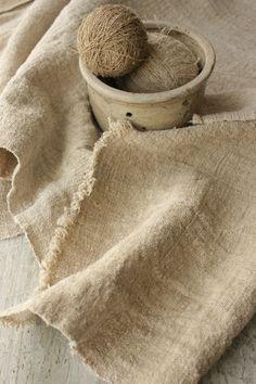 Wonderful old linen from Europe ~ homespun , natural , organic hemp ~ Lovely durable , antique fabric ~ www.textiletrunk.com