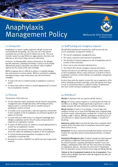 Anaphylaxis Posters to Download | Anaphylaxis Management Policy